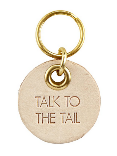 Pet Tag Leather- Talk to the Tail