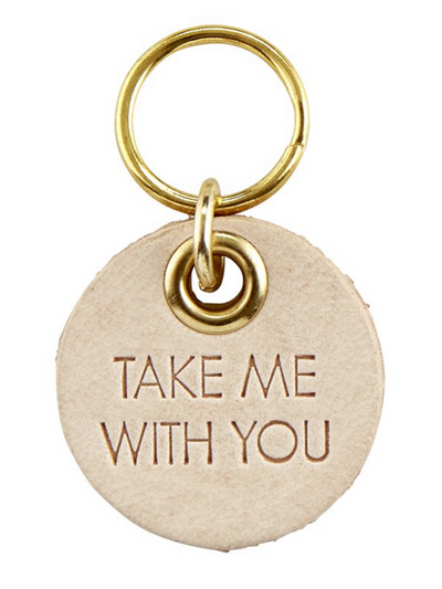 Pet Tag Leather- Take me with You