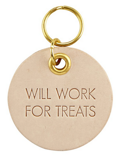 Pet Tag Leather- Will work for Treats