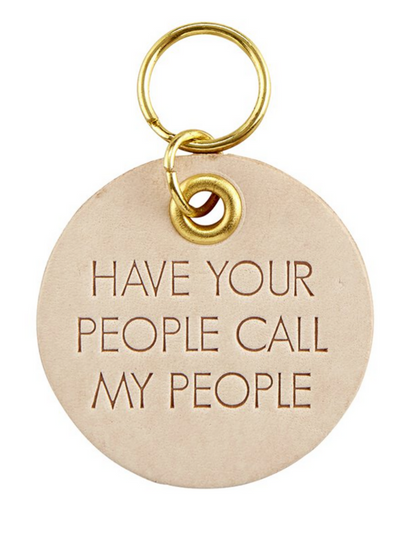 Pet Tag Leather- Have your People call my People