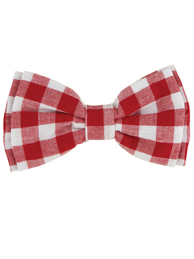 Pet Bow Tie - Red Buffalo Check