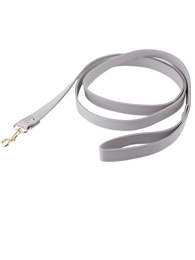 Pet Leash - Saffiano Grey
