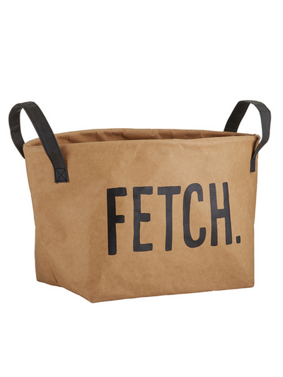 Pet Tote -  Washable paper Storage Tote- Fetch