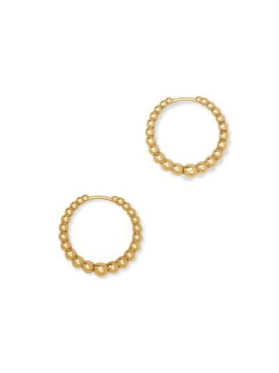 Kendra Scott : Josie Huggie Earrings In Vintage Gold