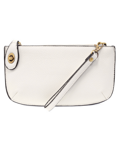 Joy Susan: Mini Crossbody & Wristlet-  White