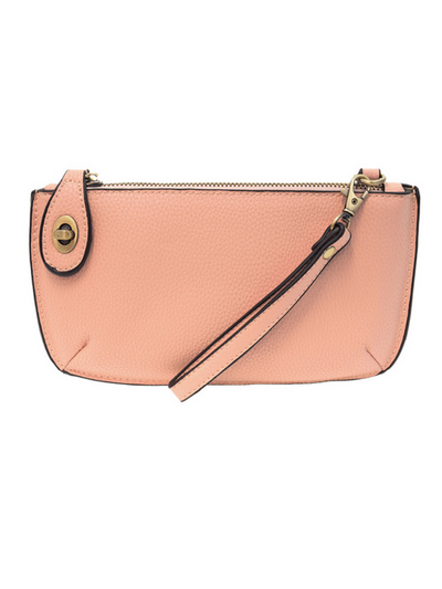 Joy Susan: Mini Crossbody & Wristlet-  Soft Pink