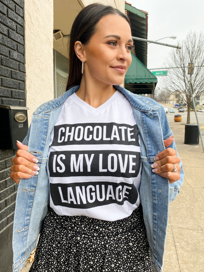 Chocolate is My Love Language Tee