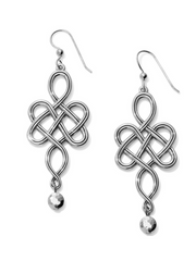 Brighton: Interlok Endless Knot French Wire Earrings