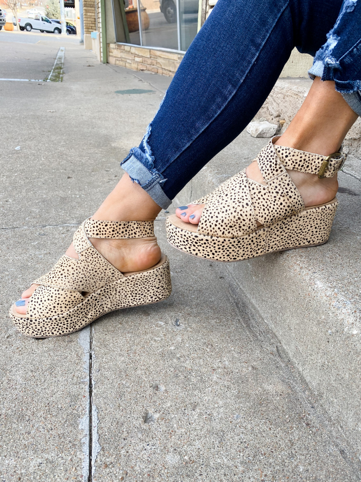 Buttercup Wedge In Brown Speckled