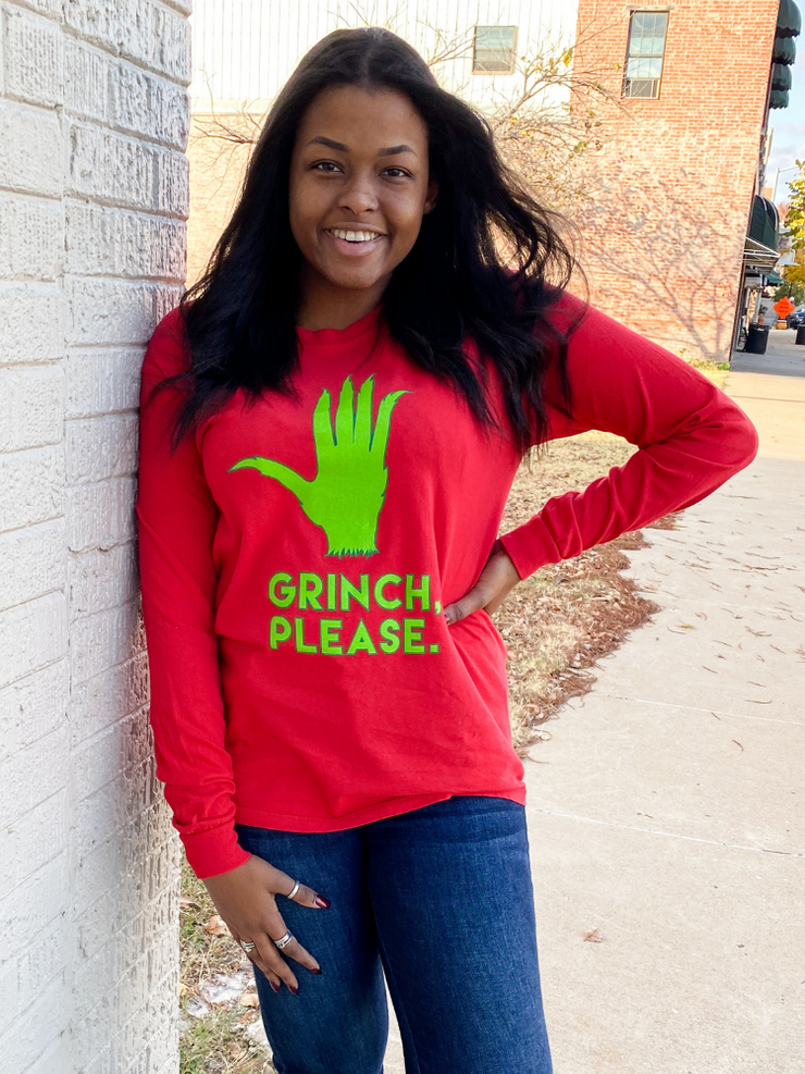 Grinch Please Long Sleeve T-shirt