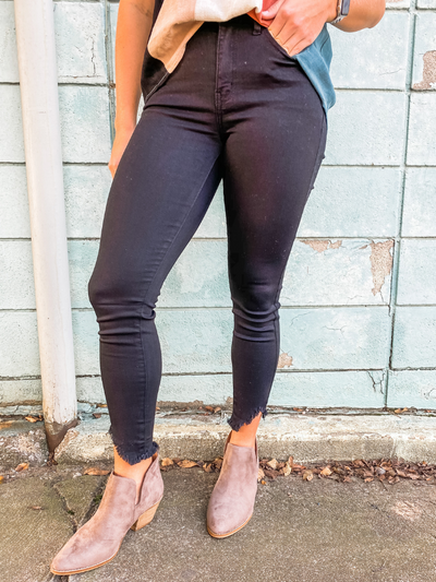 The Allie Black Skinny Jeans