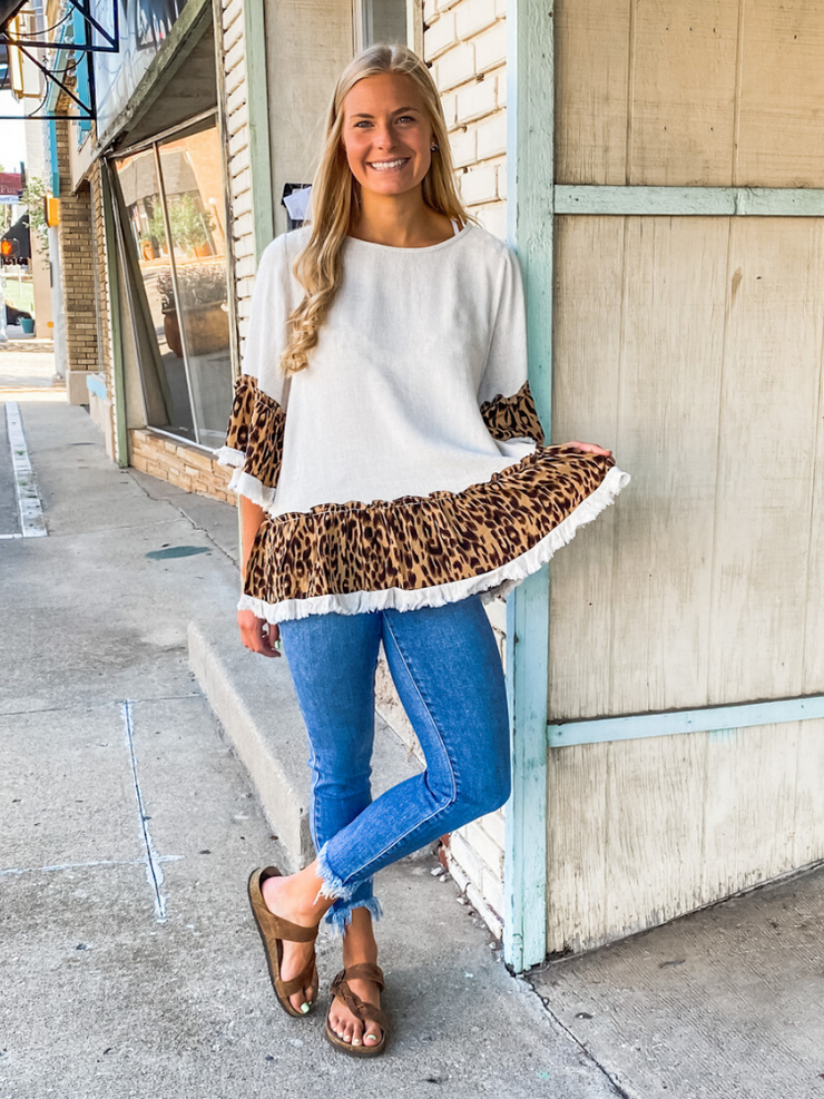 The Bella Bell Sleeve-Cream