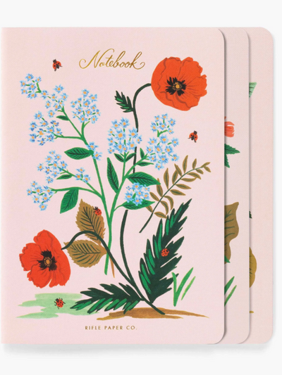 Botanical Notebooks  set of 3
