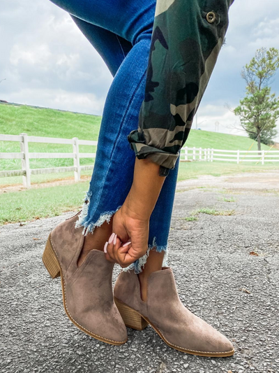 Sassy Taupe Booties