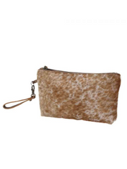 Myra Handbags - Light Brown Shaded Hairon Small Bag