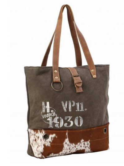 Myra Handbag- VINTAGE 1930 CANVAS TOTE BAG