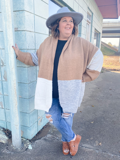 The Krissy Color Block Cardigan