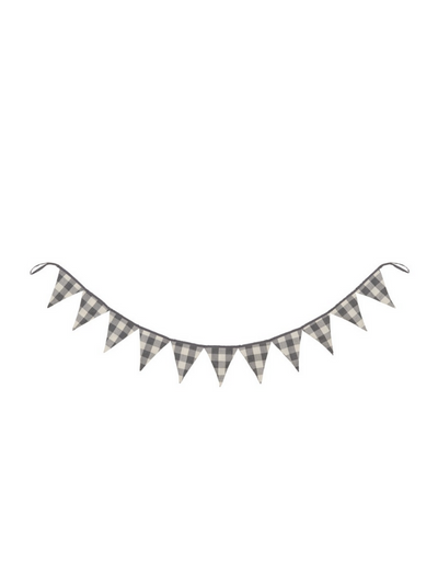 Pennant Garland - Grey/White Check