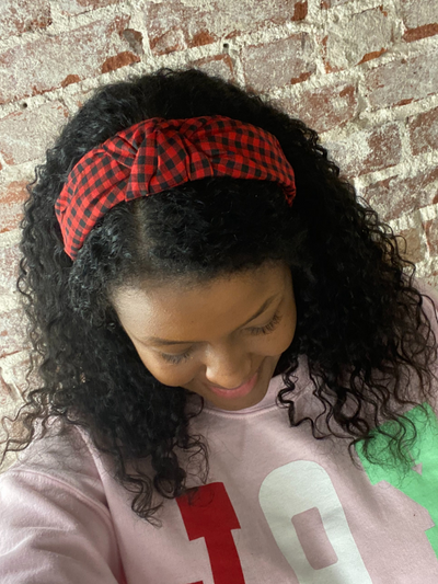 Buffalo Plaid HEADBAND - Red/Black