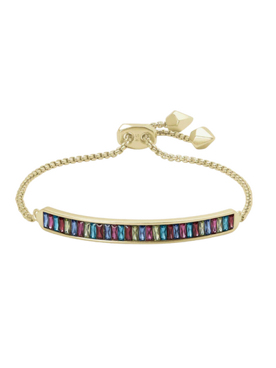 Kendra Scott - Jack Adjustable Gold Chain Bracelet In Multi Crystal