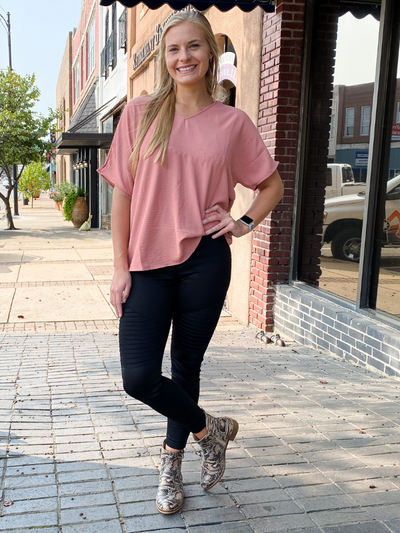 The Nicole Basic Top - Salmon