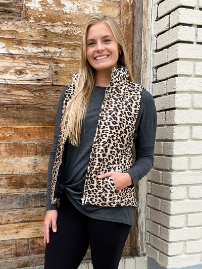 The Alanna Leopard Vest