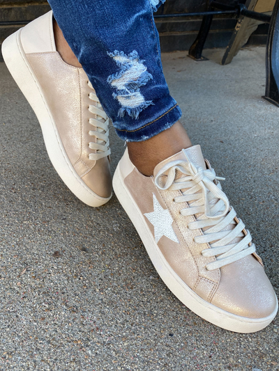 THE HAYDEN STAR SNEAKER - ROSEGOLD