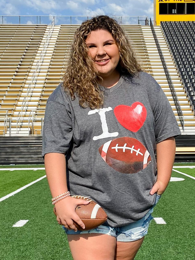 Heart Football GameDay T-shirt