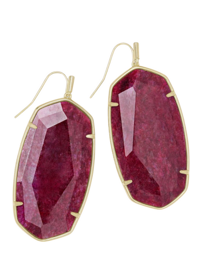Kendra Scott - Danielle Gold Drop Earrings In Raspberry Labradorite