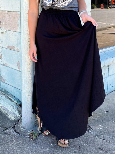 The Lilly Maxi Skirt- Black