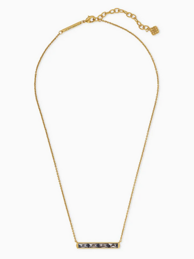 Kendra Scott - Jack Vintage Gold Pendant Necklace In Gray Crystal