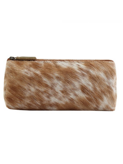 Myra Handbags- SANDY LEATHER AND HAIRON MULTI-POUCH