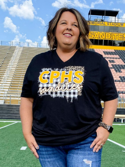 CPHS Plaid/Leopard GameDay T-Shirt