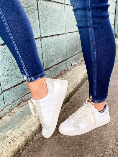 THE DENISE STAR SNEAKER- WHITE