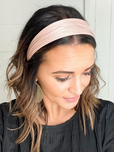 FAUX LEATHER HEADBAND - PINK