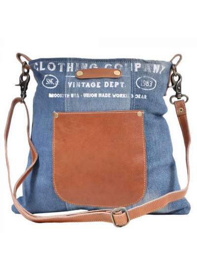 Myra Handbags-BROOKLYN DENIM SHOULDER BAG