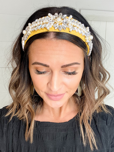 EMBELLISHED HEADBAND - GOLD