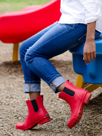 The Chelsea Roma Ankle Boot-Red