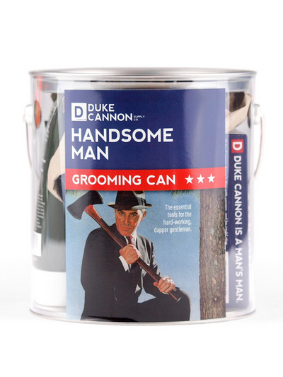 Handsome Man Grooming Can