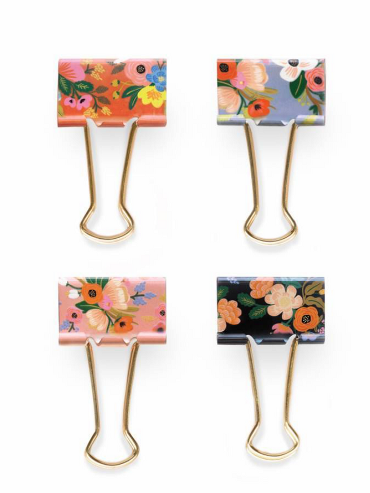 Everyday Binder Clips- Lively Floral