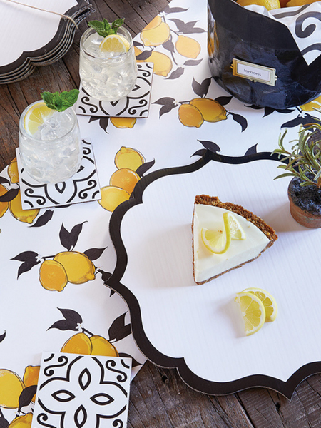 Paper Table Runner- Lemons