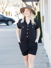 The Ava Button Up Romper