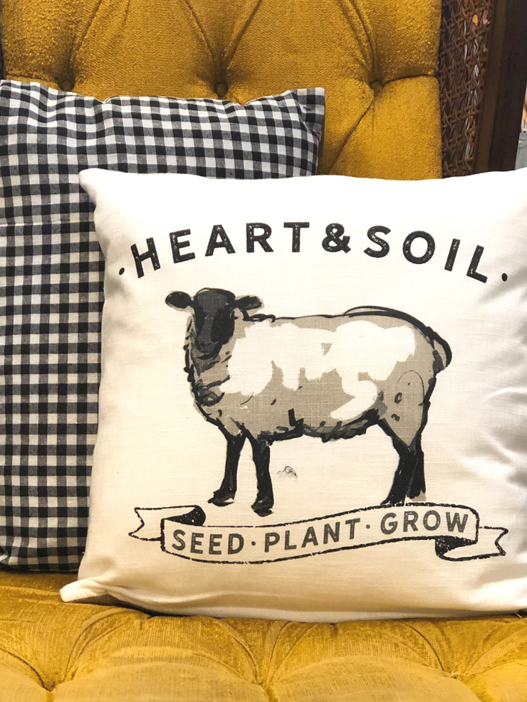 Farm Animal Accent Pillow- Sheep