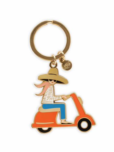 Rifle Paper Company-Scooter Enamel Keychain