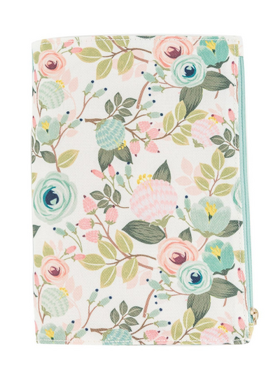 Canvas Journal With Pocket- Peach Floral