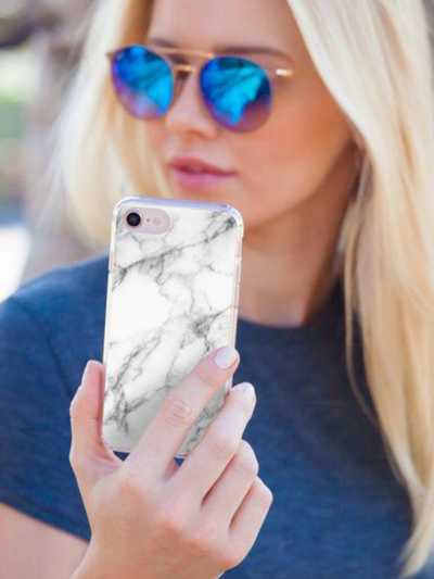 Casery iPhone Case- White Marble