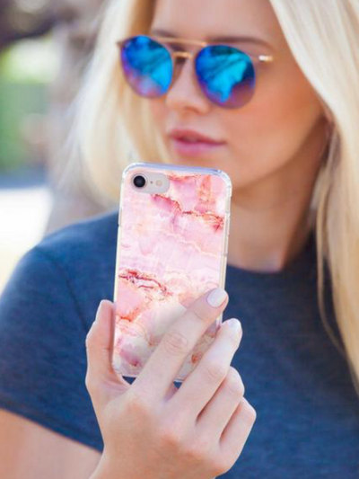Casery iPhone Case- Rose Marble