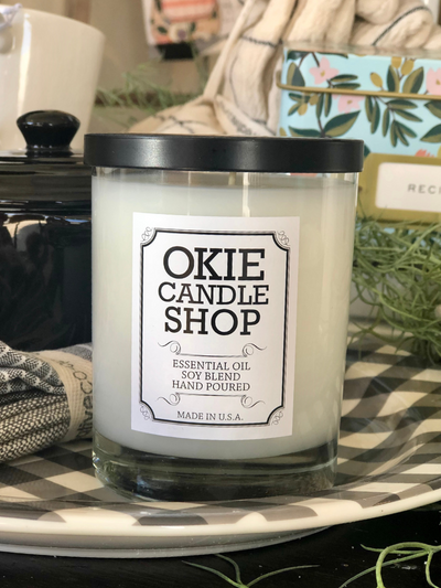 Okie Candle Shop Candle- Cool Water