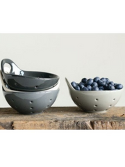 Stoneware Berry Bowl-Charcoal