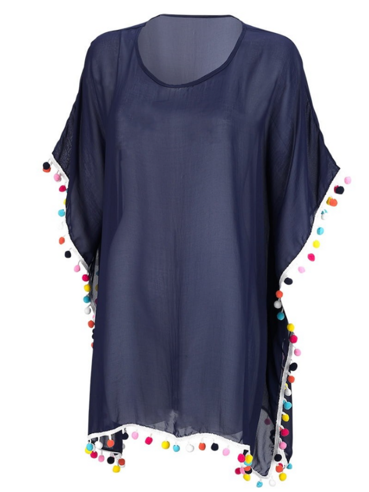 Pom-Tastic Cover Up- Navy